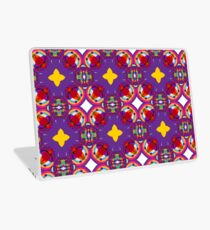 circle kunterbunt abstract seamless colorful repeat pattern Laptop Skin