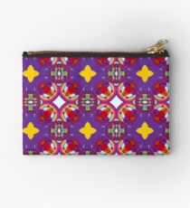 circle kunterbunt abstract seamless colorful repeat pattern Studio Pouch
