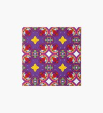 circle kunterbunt abstract seamless colorful repeat pattern Art Board