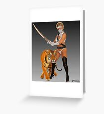 Lady Pain Greeting Card