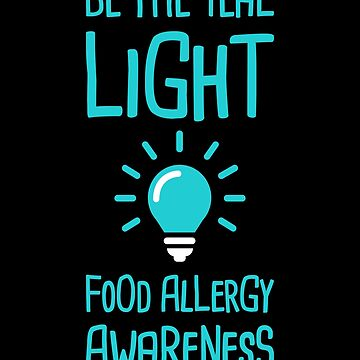 Light - Teal Ribbon Food Allergy Awareness by EMDdesign