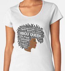 HBCU Wörter in der Afro-Kunst-schwarzen Frau Premium Rundhals-Shirt
