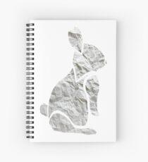 Crumpled Bunny Spiral Notebook