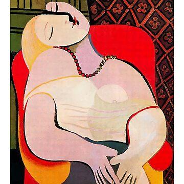 Camiseta de ilustraciones de Pablo Picasso A Dream 1932 (Le Reve) de clothorama