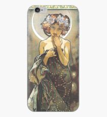 HD. The Moon and the Stars, (number 1 from serie of 4) by Alphonse Mucha (1902) HIGH DEFINITION iPhone Case