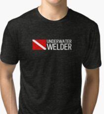 Welding: Underwater Welder & Diving Flag Tri-blend T-Shirt