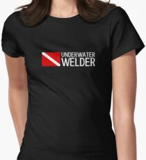 Welding: Underwater Welder & Diving Flag Women's Fitted T-Shirt