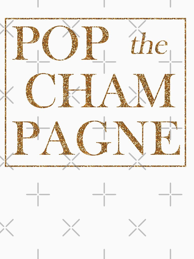 Gold Glitter POP the CHAMPAGNE shirt for New Years Eve, Bride, Bachelorette, Bridesmaid, Maid of Honor! by IntrepiShirts