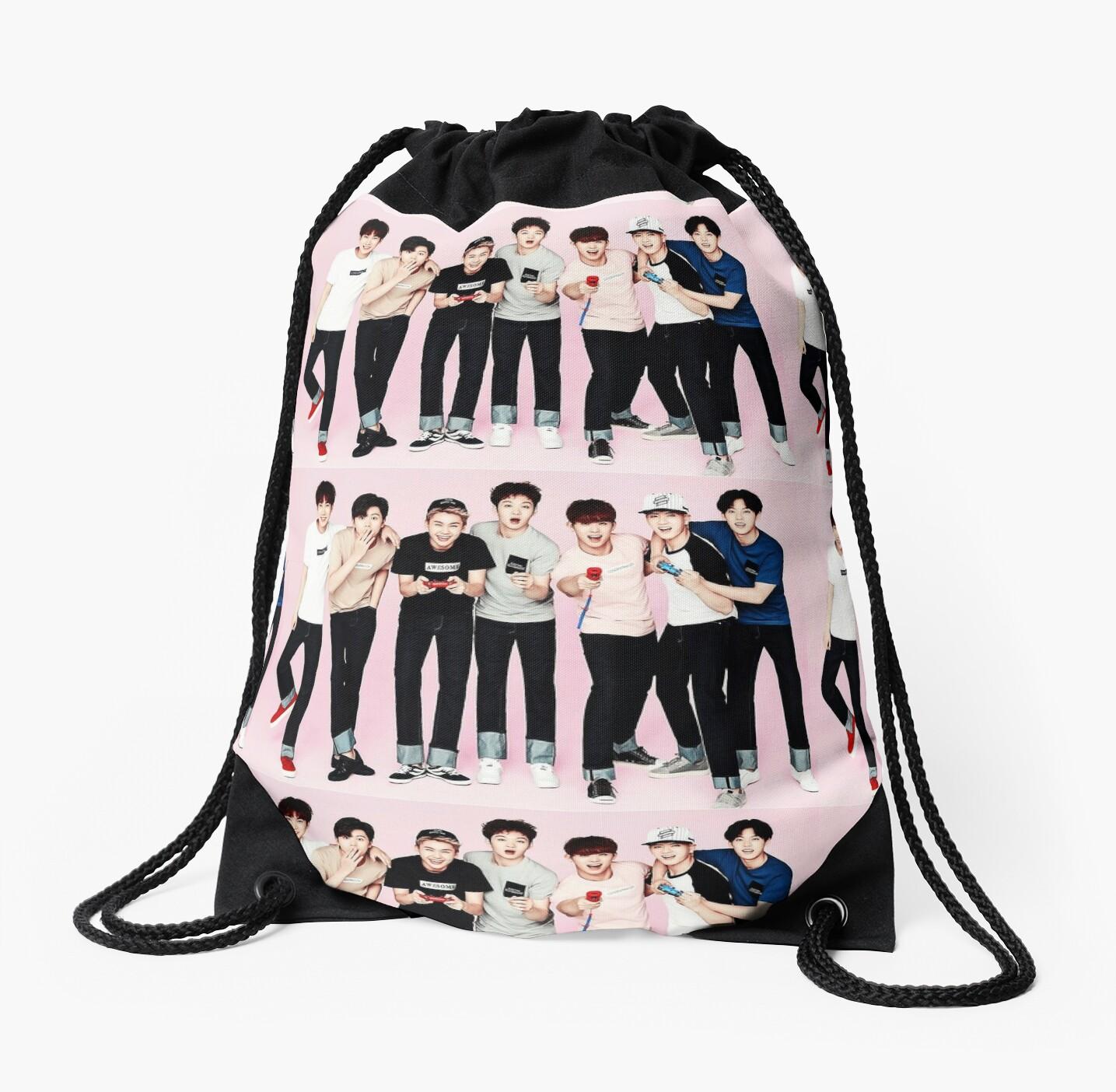 Btob Group Drawstring Bags By Aegyo Store Redbubble