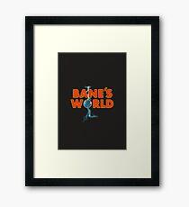 BANES WORLD Framed Print