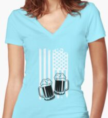 Happy St. Patrick's Day Women's Fitted V-Neck T-Shirt