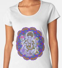 Lord Ganesha with Colorful Mandala Women's Premium T-Shirt
