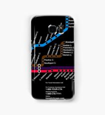 CTA MAP BLACK Samsung Galaxy Case/Skin