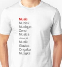 Music (10 languages) T-Shirt