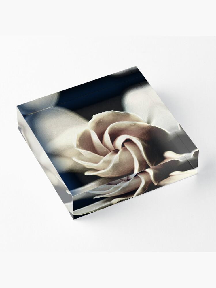 Alternative Ansicht von Blume - Gardenie Acrylblock