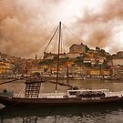 Rabelo Boat With Port Casks Porto by wsglobal