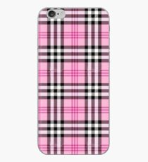 Pink Plaid (Tartan) Muster iPhone-Hülle & Cover