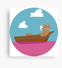 Stranded in A Pink Ocean Canvas Print