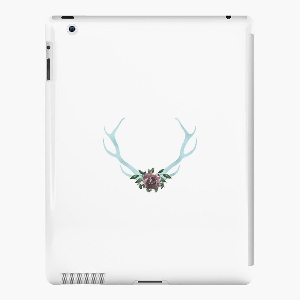 Floral Blue Foil Geweihe iPad-Hüllen & Klebefolien