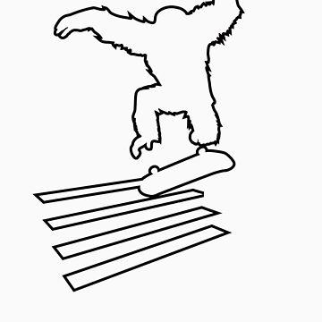 Primate Skate  outline by Jordan