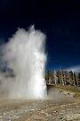 Grand Geyser Eruption by Stephen Beattie