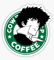 Cowboy Bebop X Starbucks Inspired Illustration. Sticker