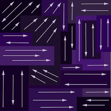 Purple Arrows by GeekyGrandeur