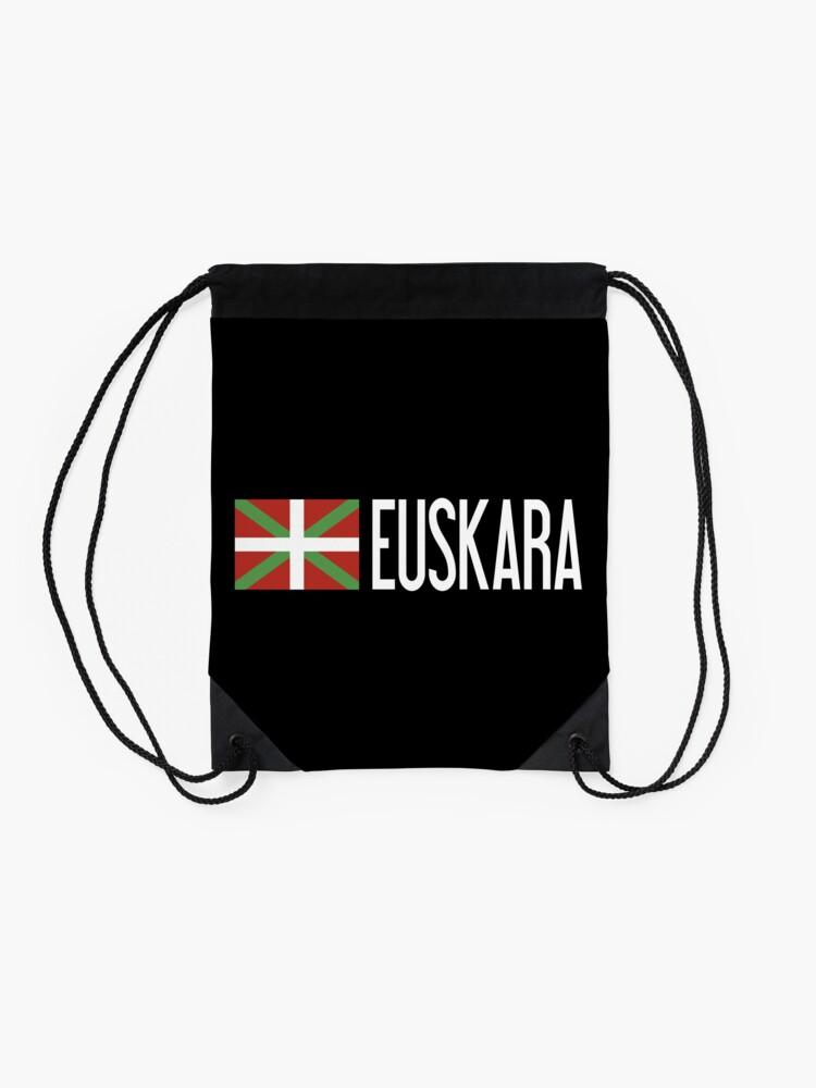 Alternate view of Basque Country: Basque Flag & Euskara Drawstring Bag