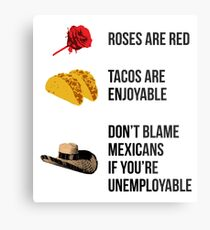 Roses are red, tacos are enjoyable Metal Print