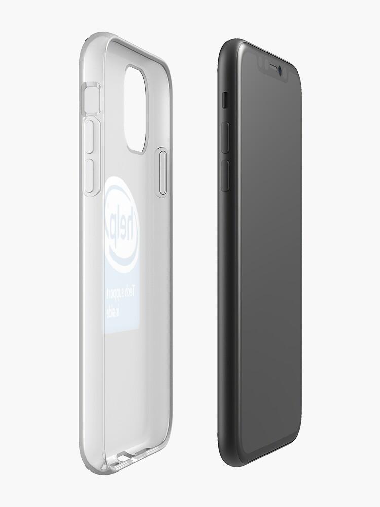 technology intel logo iphone case