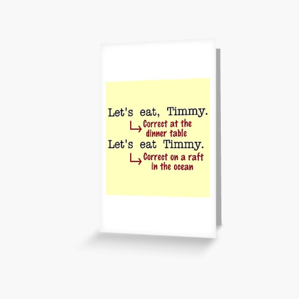 Funny Punctuation Grammar Humor Greeting Card