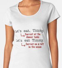 Funny Punctuation Grammar Humor Women's Premium T-Shirt