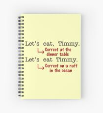 Funny Punctuation Grammar Humor Spiral Notebook