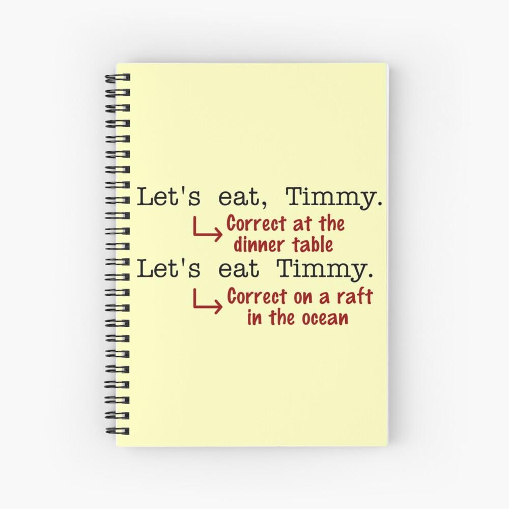 Funny Punctuation Grammar Humor Spiral Notebook
