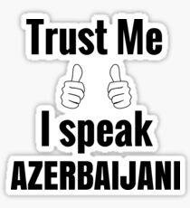 Awesome Azerbaijani Gift Shirt for Men Women Kids Sticker