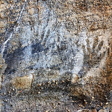 Blackfellows Hand Cave paintings. by Ian17