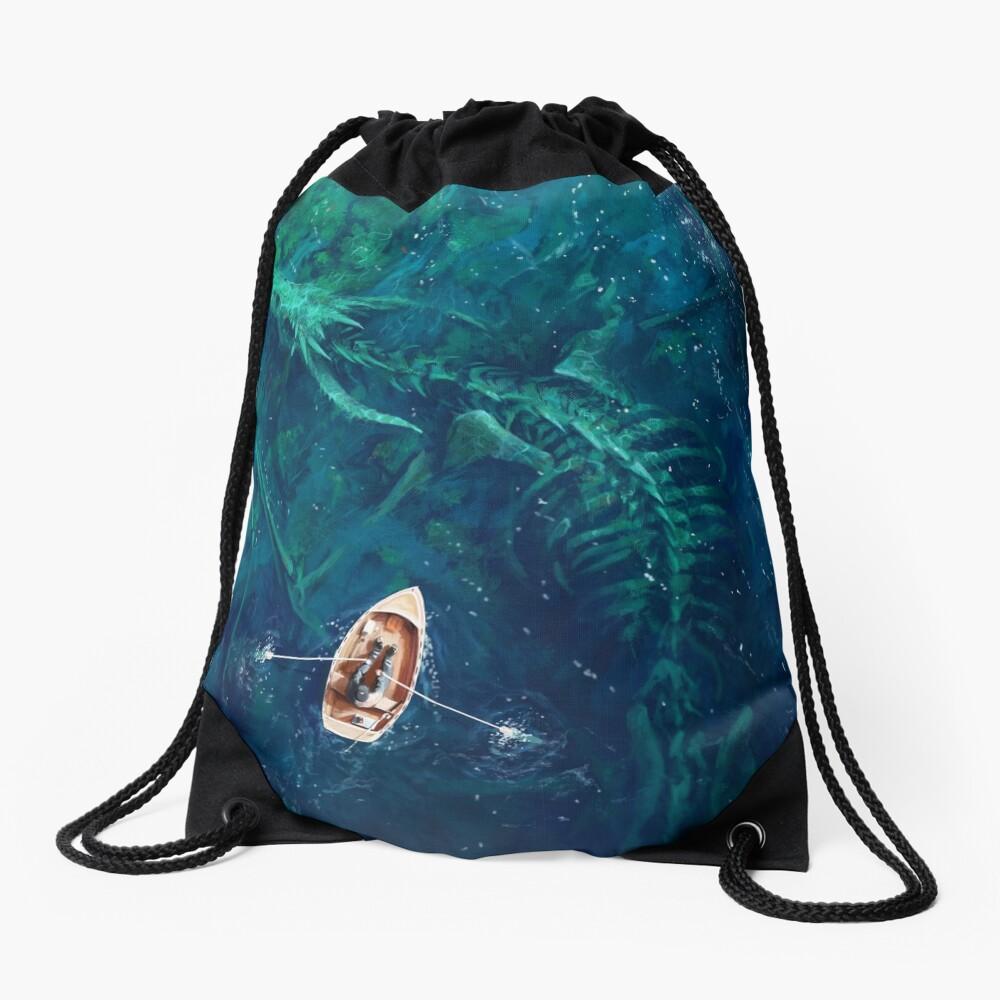 Dragon bones Drawstring Bag