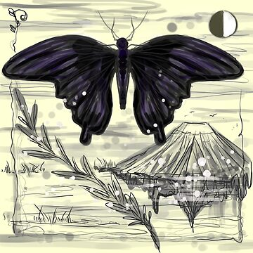 Giant Black Japanese Butterfly by lyle23