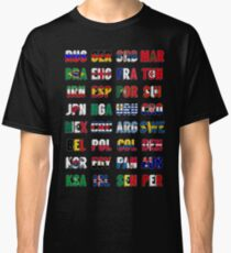 Russia 2018 qualified teams Classic T-Shirt