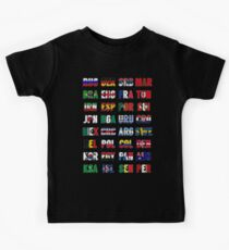 Russia 2018 qualified teams Kids Tee