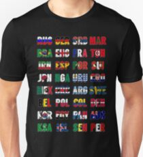 Russia 2018 qualified teams Unisex T-Shirt