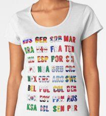 Russia 2018 qualified teams Women's Premium T-Shirt