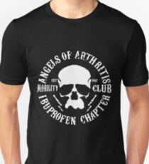 Angels Of Arthritis Mobility Club Motorcycle SOA Ibuprofen Gift Mens Top Motorcycle Unisex T-Shirt
