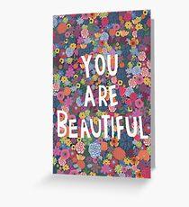 Tu es belle Carte de vœux