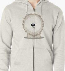 Old English Sheepdog tshirt - Dog Gifts for Sheepdog and Sheep Dog Lovers Zipped Hoodie