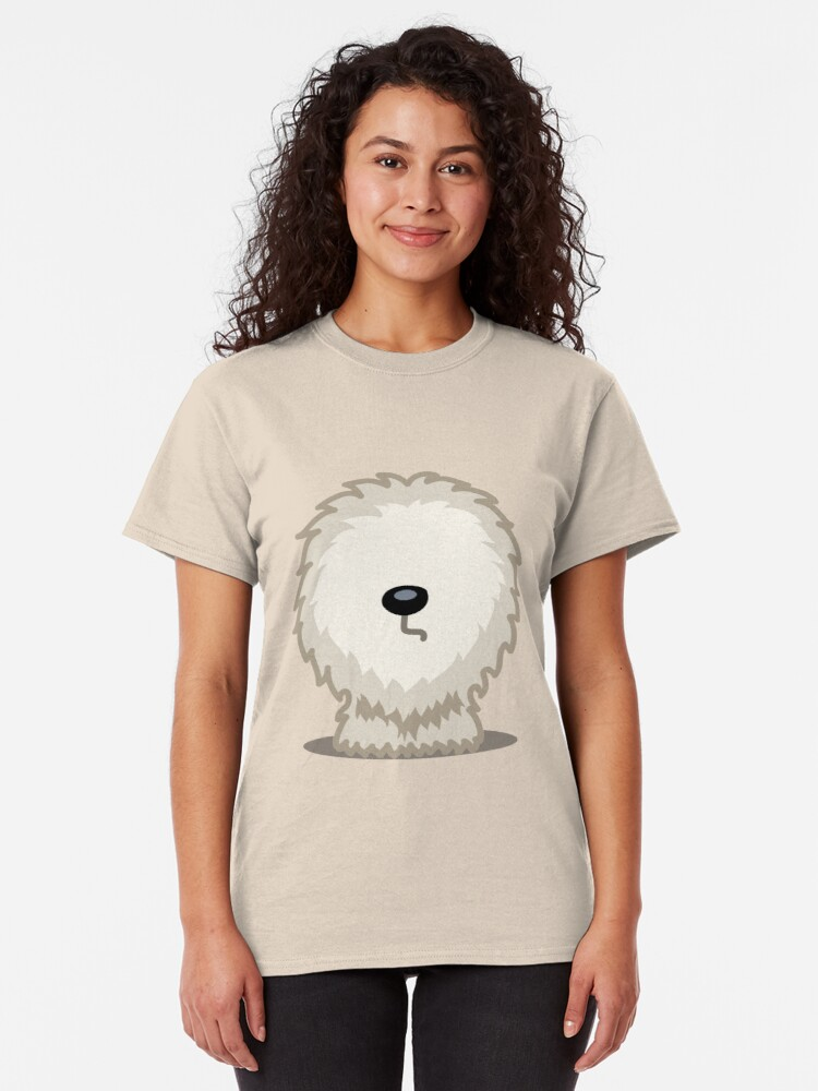 Alternate view of Old English Sheepdog tshirt - Dog Gifts for Sheepdog and Sheep Dog Lovers Classic T-Shirt