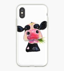 NOSEY COW PRiNT 'HURLEY BURLEY' BY SHiRLeY MacARTHuR iPhone Case