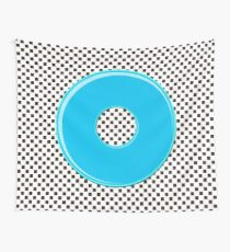 Blue bubble gum blot. Wall Tapestry