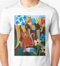 THE CAT THAT GOT THE CREAM Unisex T-Shirt