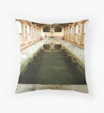 Old lavatory Throw Pillow